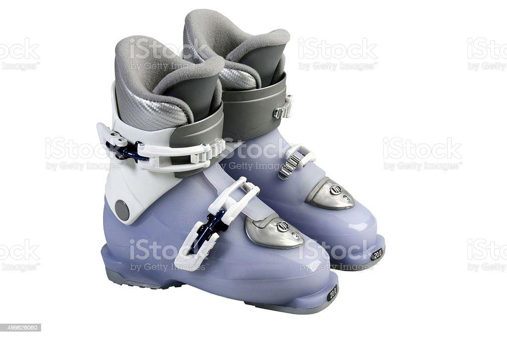Children's Ski boots. stock photo