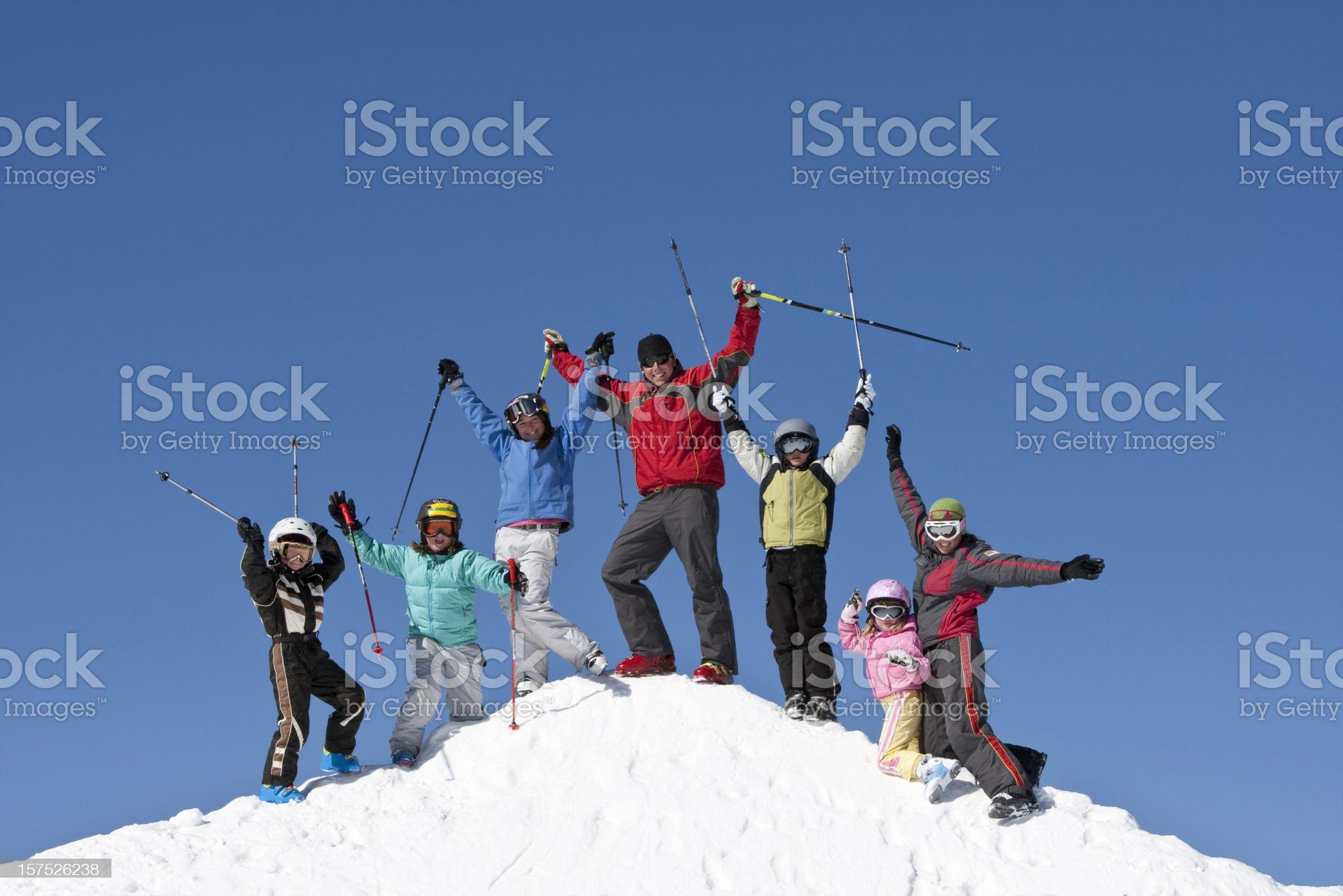 Childrens ski school royalty-free stock photo