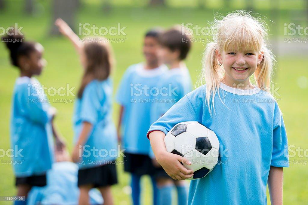 Children's Soccer League stock photo