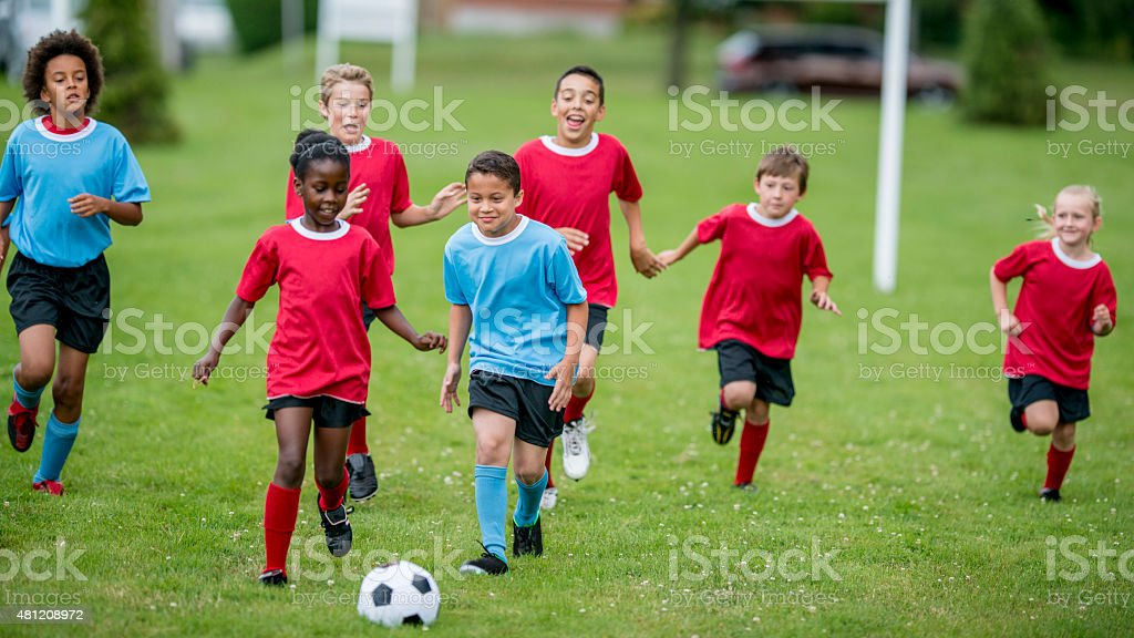 Childrens Soccer stock photo