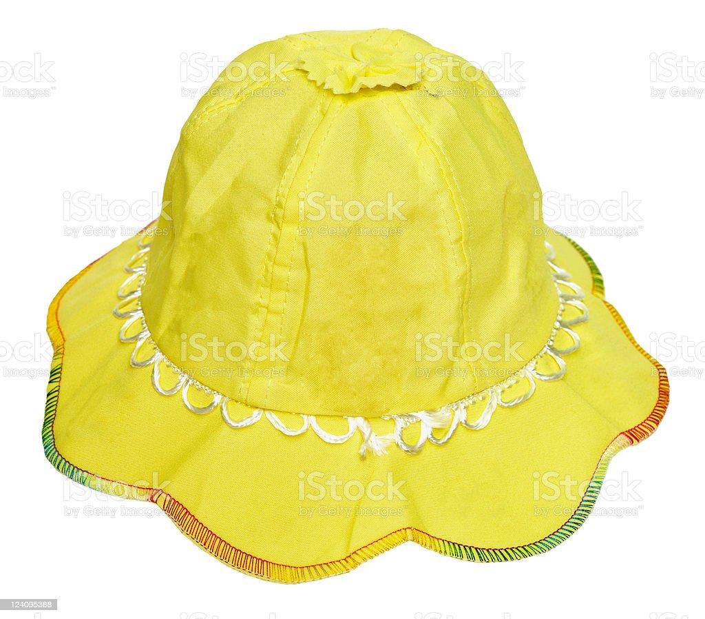 Children's summer yellow hat royalty-free stock photo