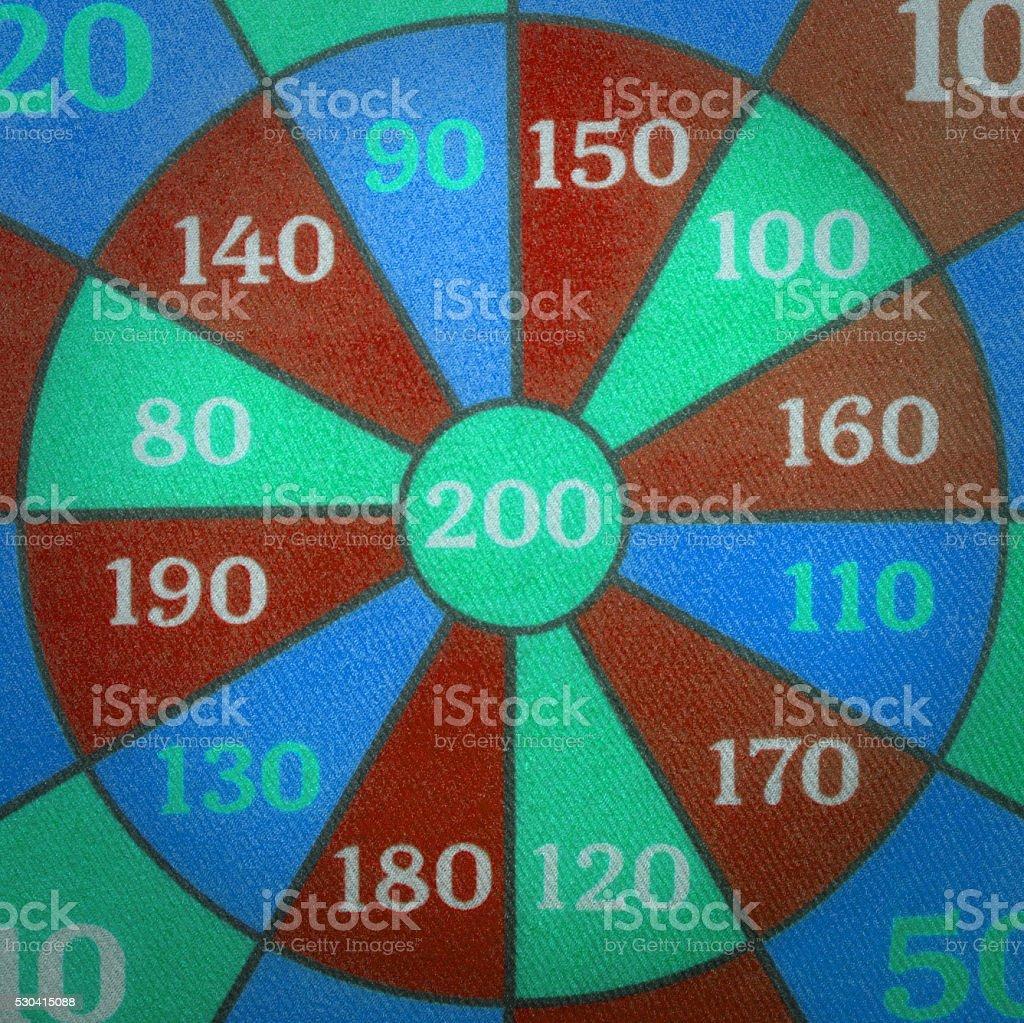 Children's target board stock photo