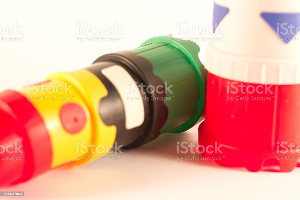 Children's toy. Pyramid / tower stock photo