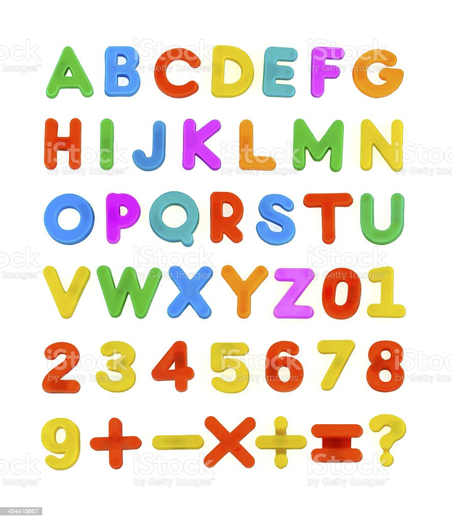 Child's ABC Letters stock photo