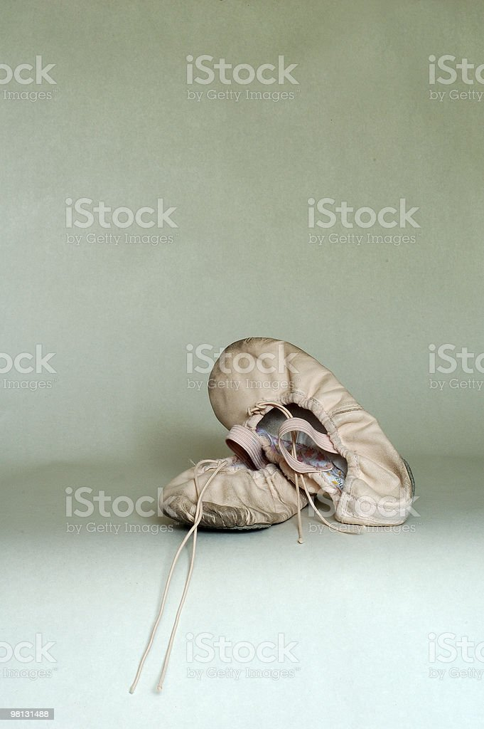 child's ballet shoes royalty-free stock photo