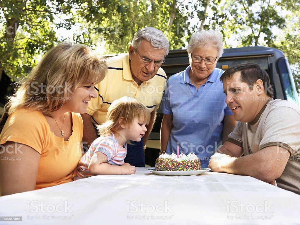Childs birthday celebration. royalty-free stock photo