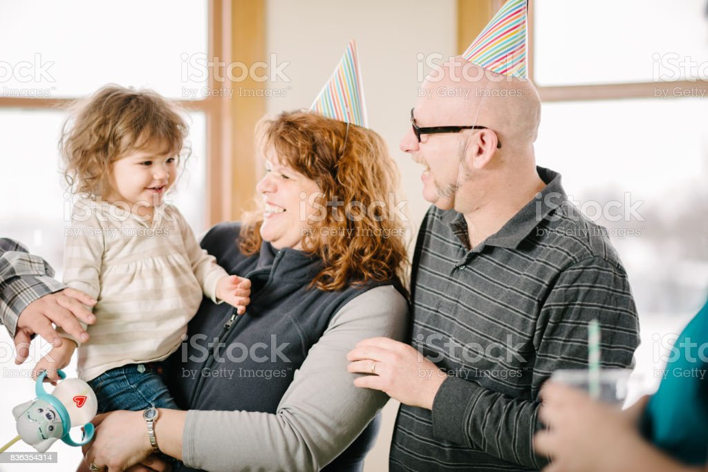 Child's birthday party stock photo