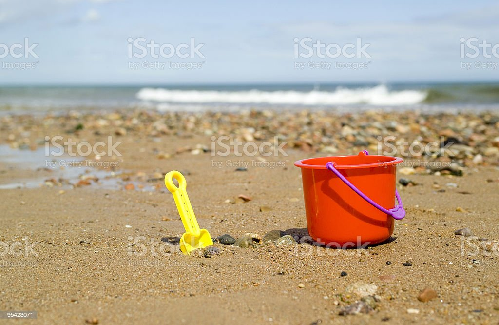 Childs bucket and spade royalty-free stock photo