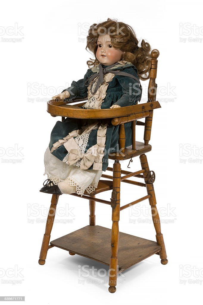 Childs ceramic life sized dressed doll original ol stock photo