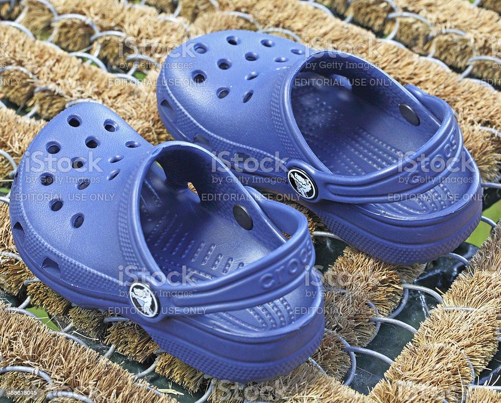 Childs Chrocs(TM) shoes stock photo