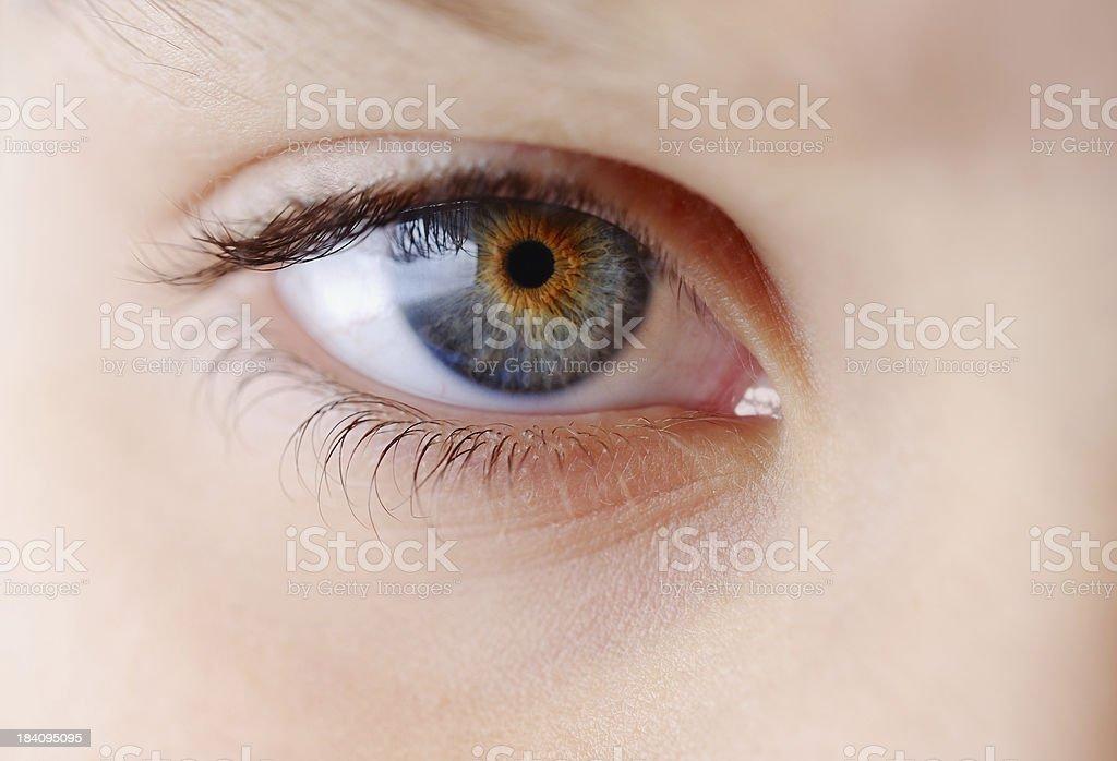 Childs Eye Macro stock photo