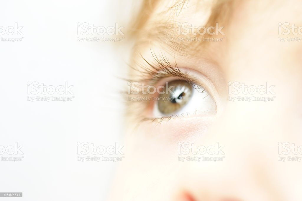 Child's eye royalty-free stock photo