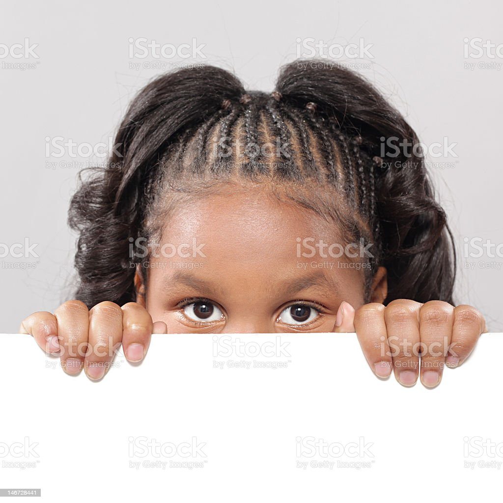 Child's face with copy space royalty-free stock photo
