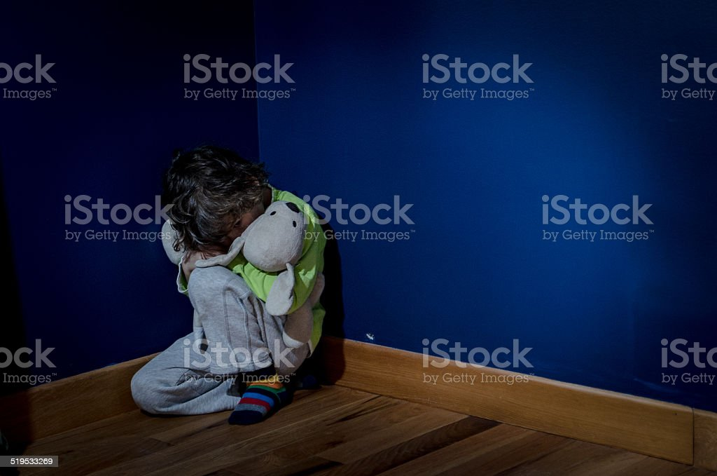 Child's fear stock photo