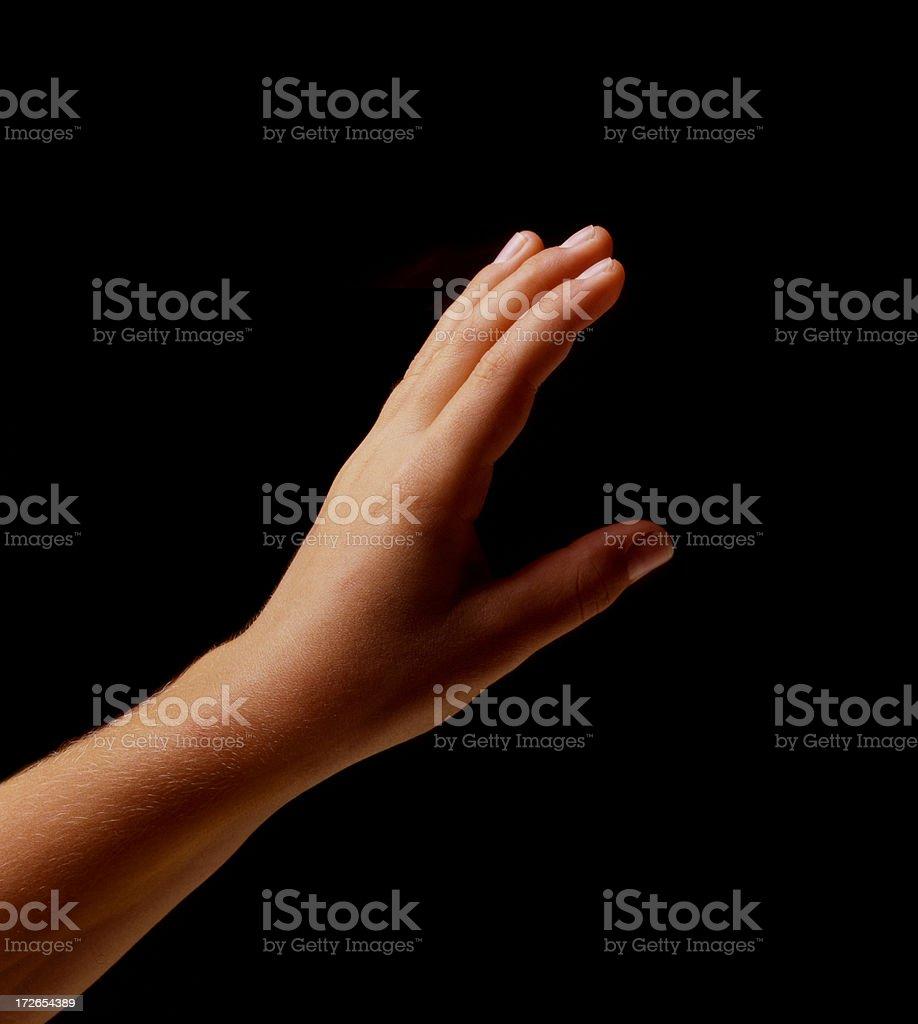 Child's hand royalty-free stock photo