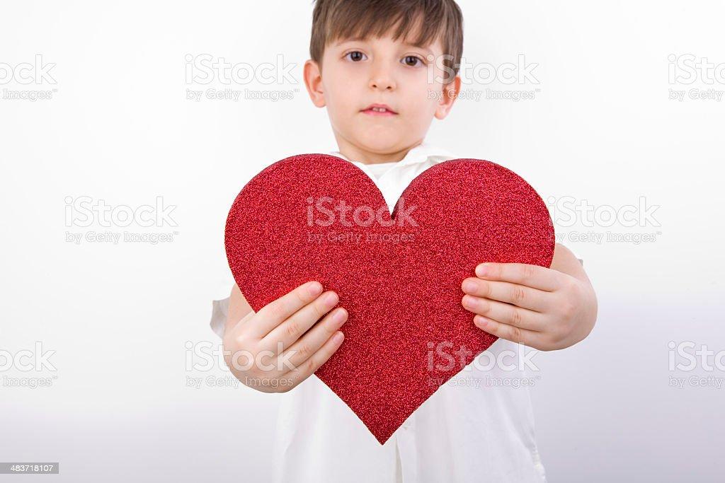 Child's Heart - Charity royalty-free stock photo