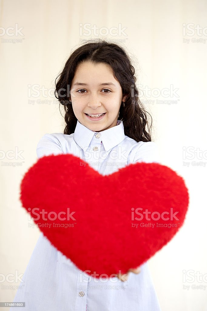 child's heart royalty-free stock photo
