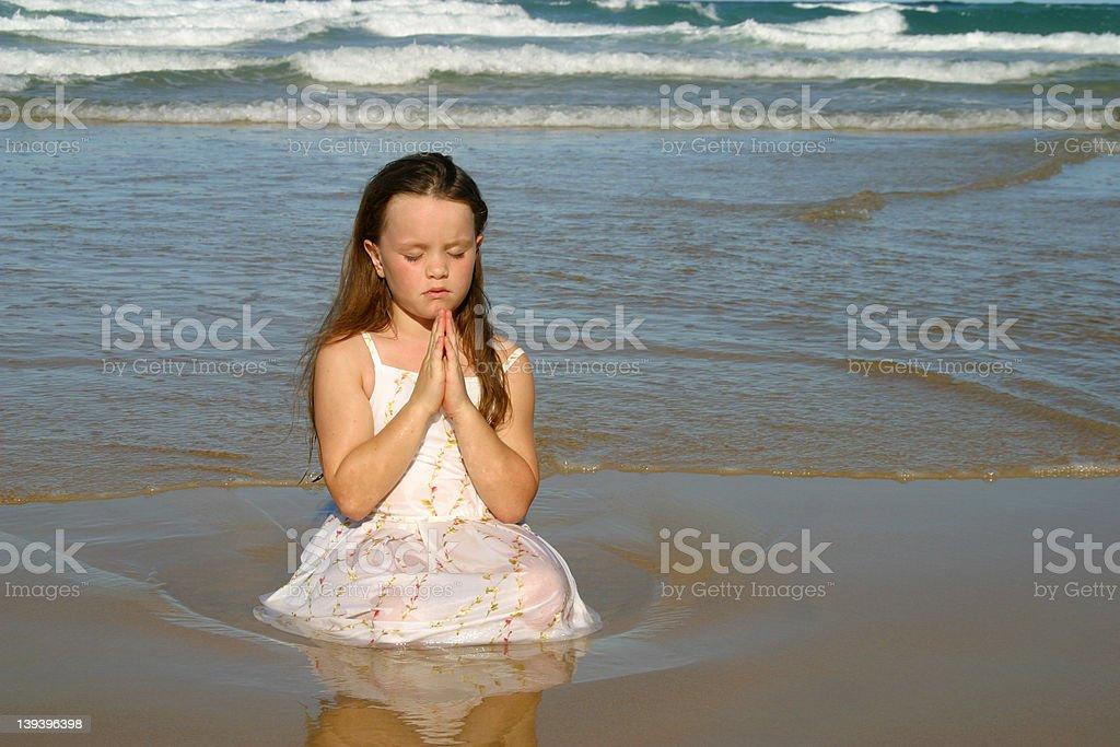 Childs Heartfelt Prayer royalty-free stock photo