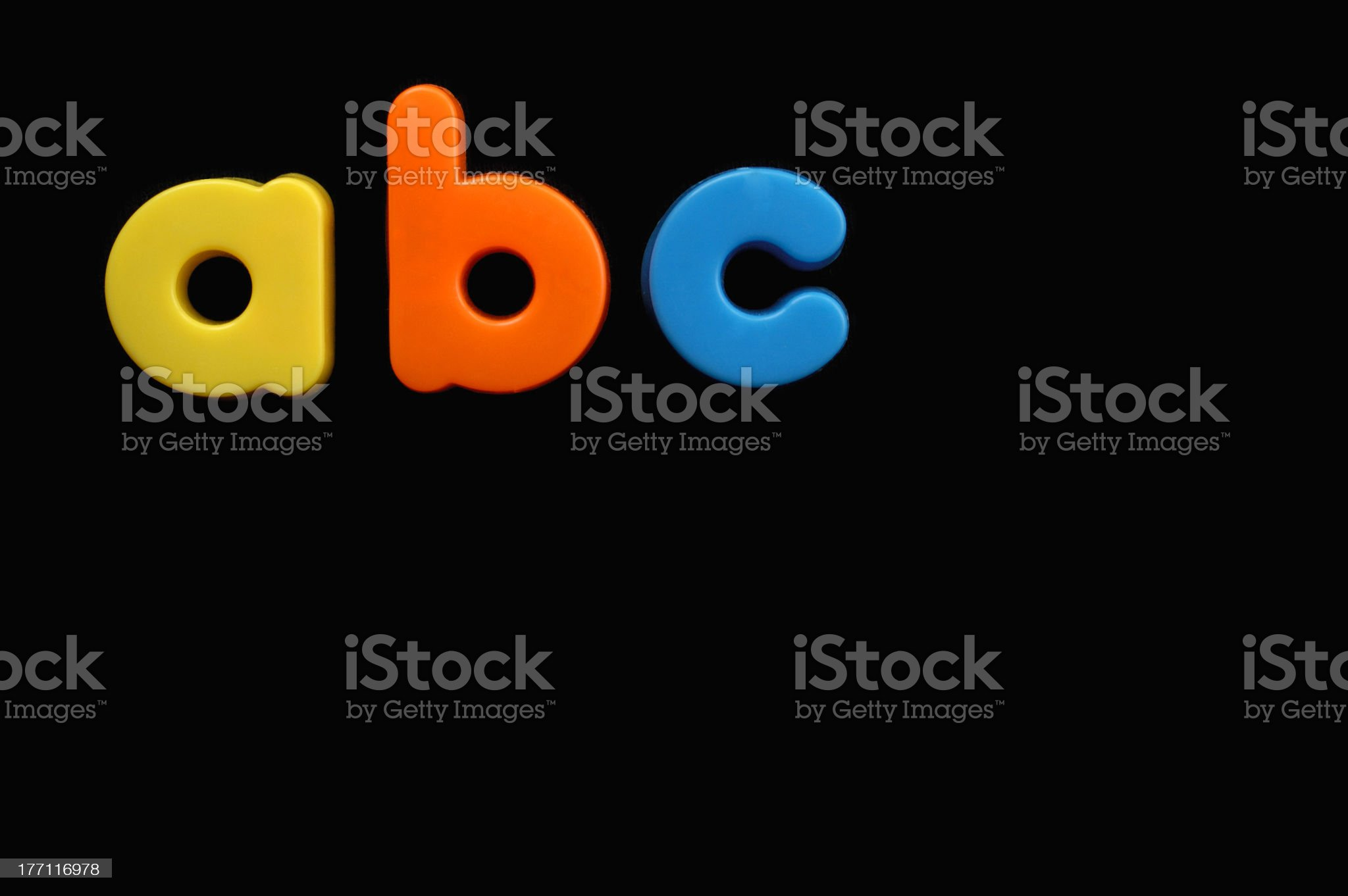 Child's letters royalty-free stock photo