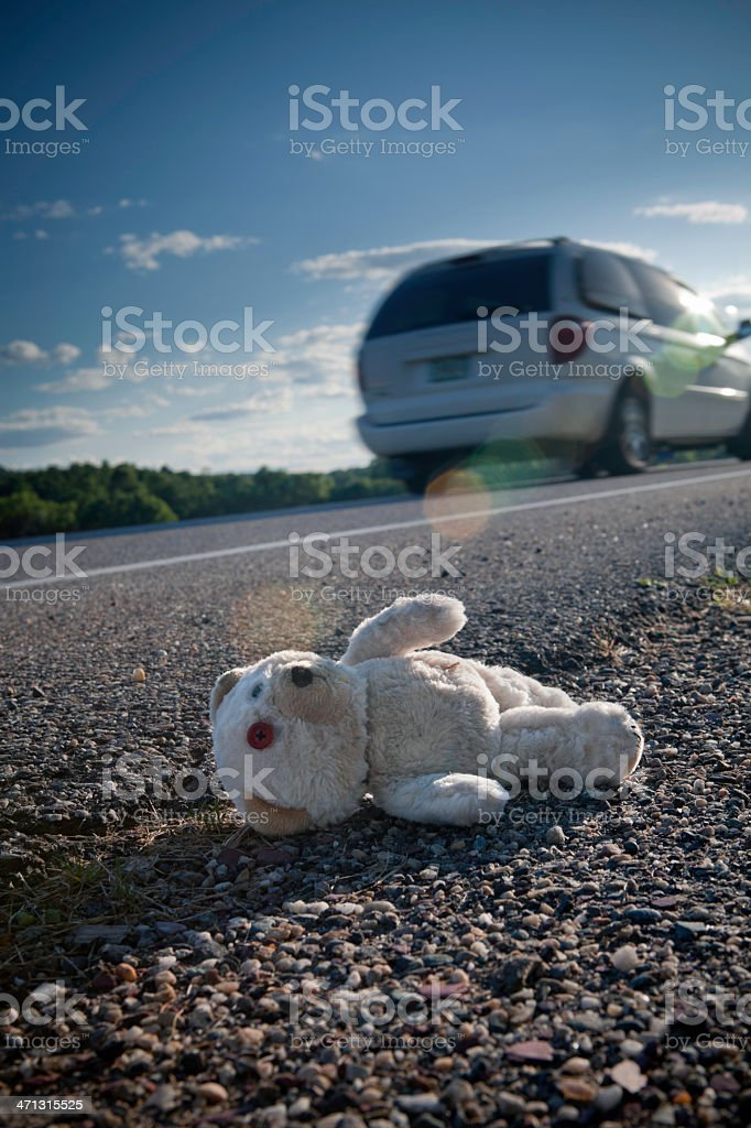 Child's lost or forgotten Teddy Bear royalty-free stock photo