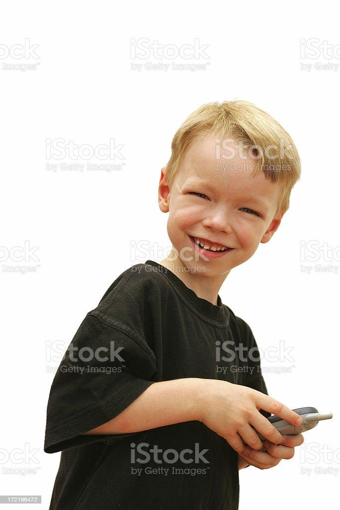 Child's Mobile Phone stock photo