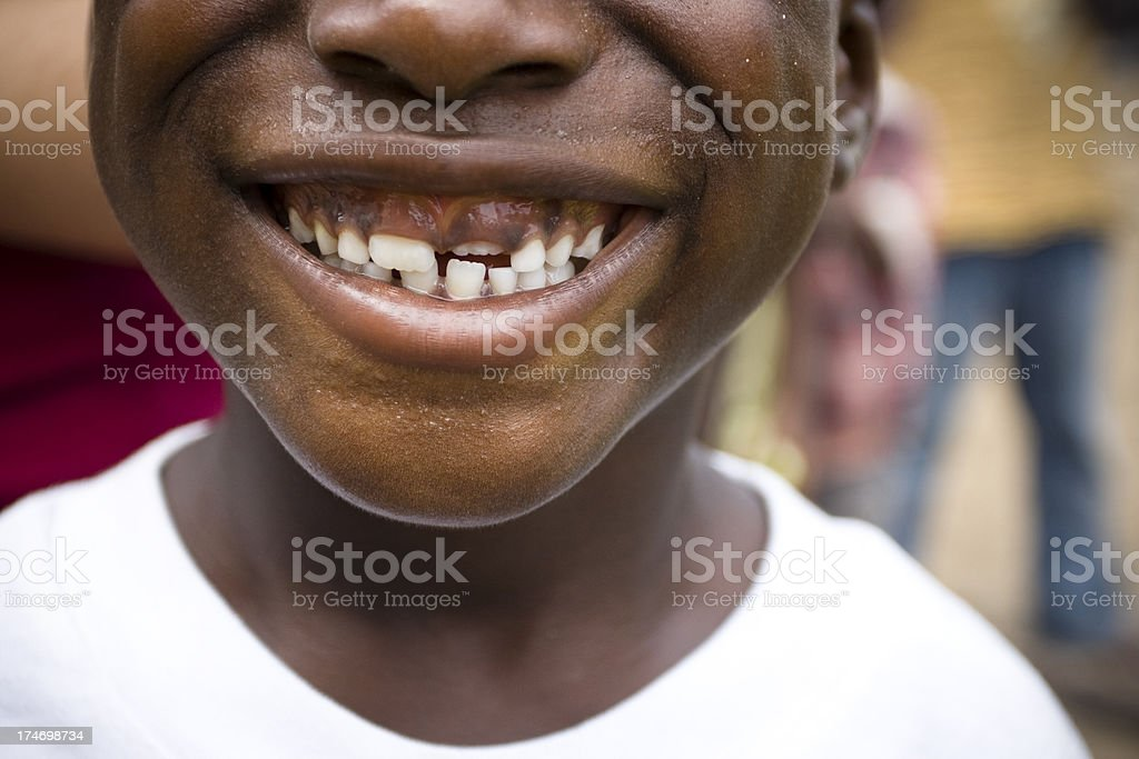 Child's Mouth Smiling royalty-free stock photo