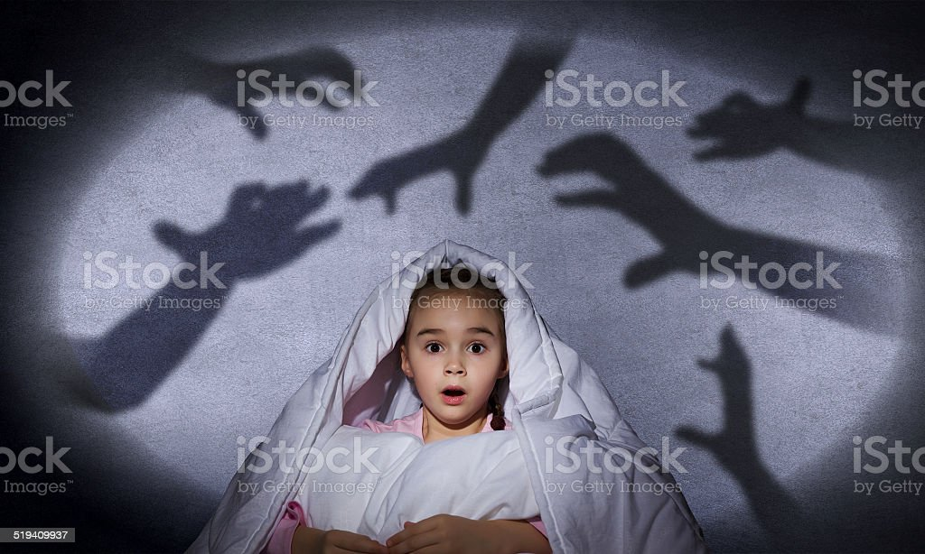 Child's nightmare stock photo