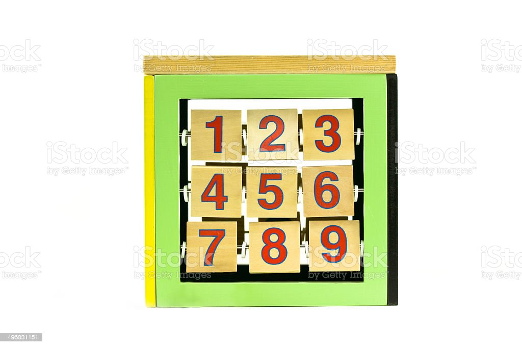 childs number toy stock photo