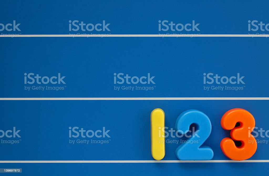 Child's numbers stock photo