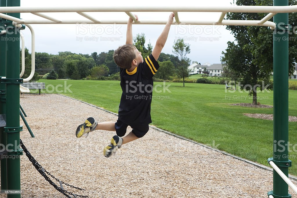 Child's Physical Fitness stock photo