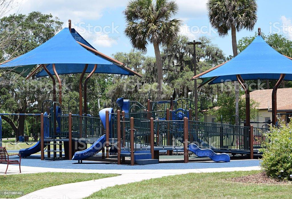 Child's playground park stock photo