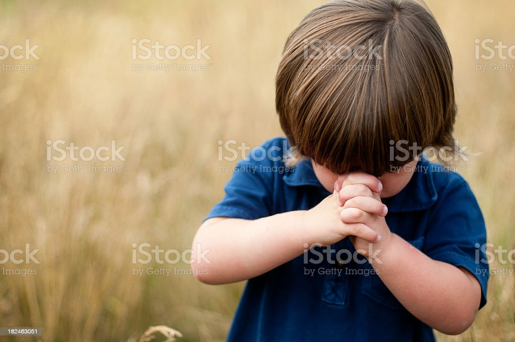 Child's Prayer stock photo