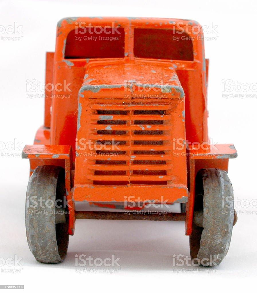 child's red toy truck 1 royalty-free stock photo