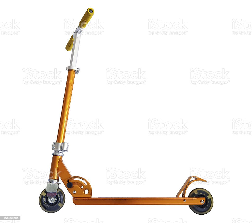 Child's scooter stock photo