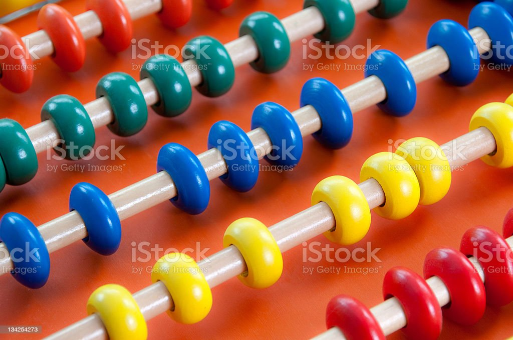 Childs wooden Abacus stock photo