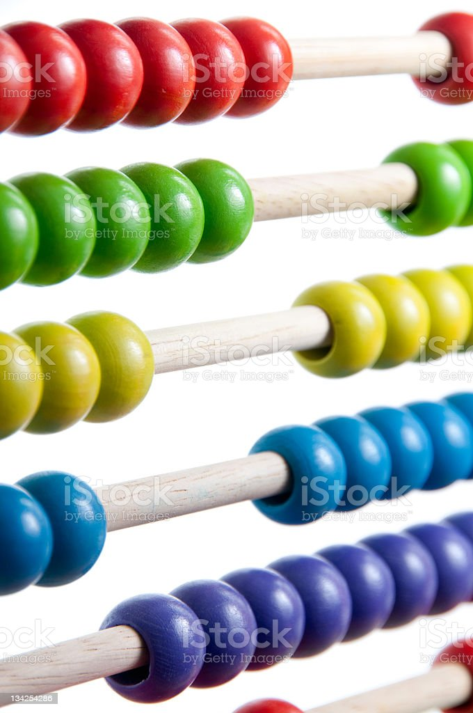 Childs wooden Abacus royalty-free stock photo