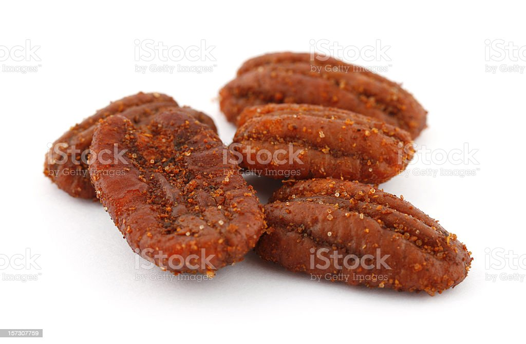 Chile Flavored Pecan Halves royalty-free stock photo