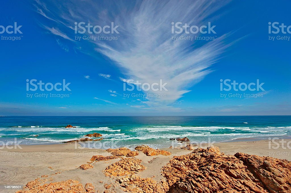 chile. pasific coast. beach. stock photo