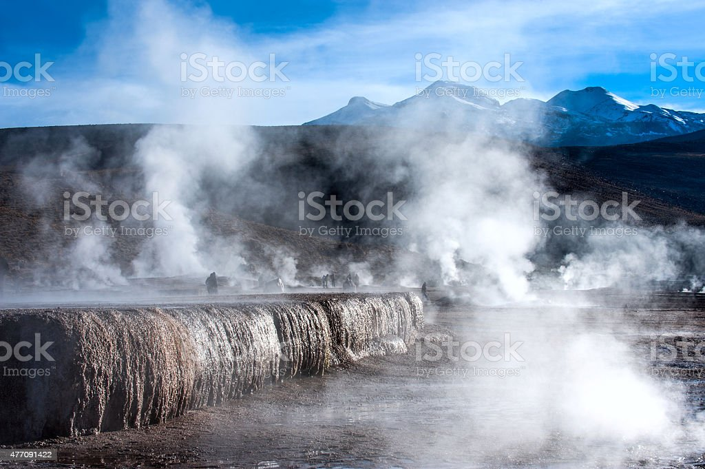 Chile. Valley of Geysers in the Atacama Desert stock photo