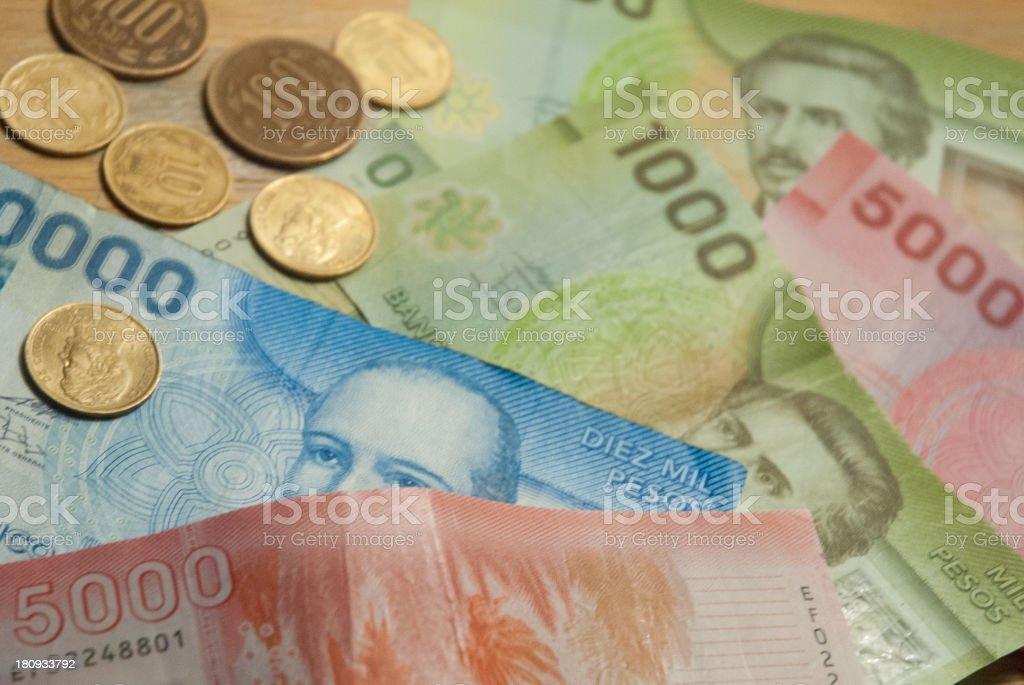Chilean Cash stock photo