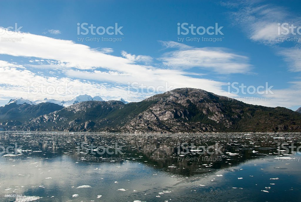 Chilean Fjords And Canal Sarmiento stock photo