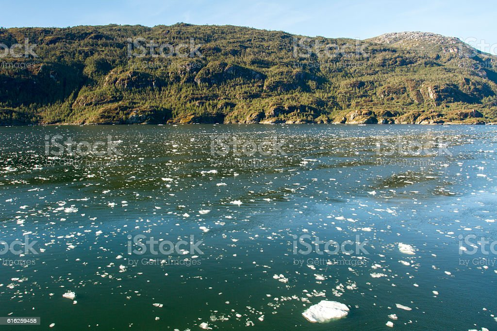 Chilean Fjords And Sarmiento Channel stock photo