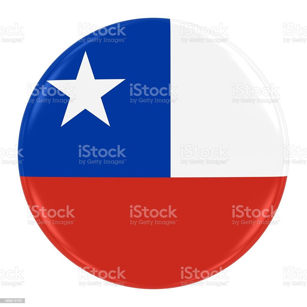 Chilean Flag Badge stock photo