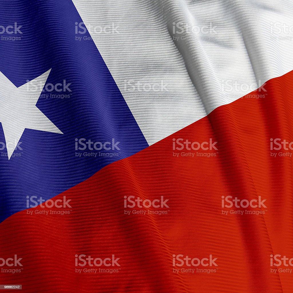 Chilean Flag Closeup stock photo