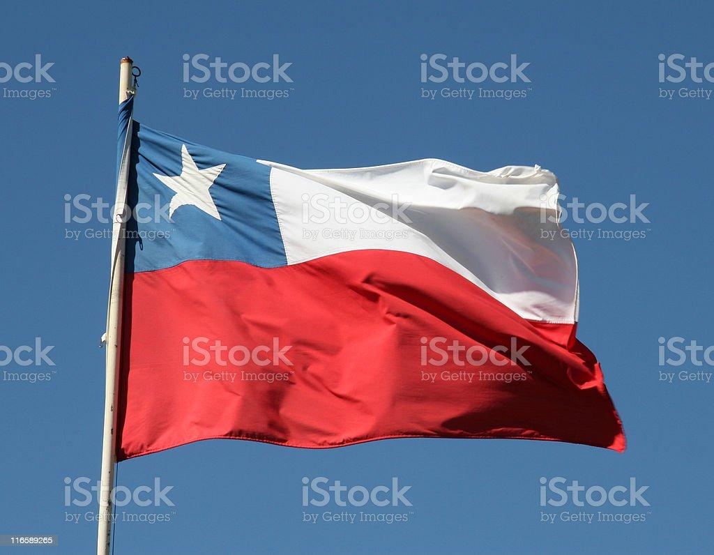 Chilean flag stock photo