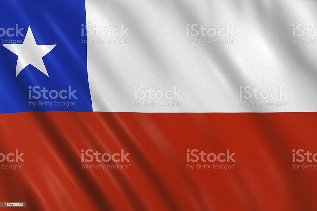 chilean flag royalty-free stock photo