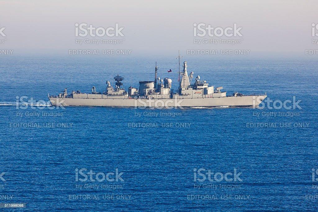 Chilean Frigate Capitán Prat stock photo