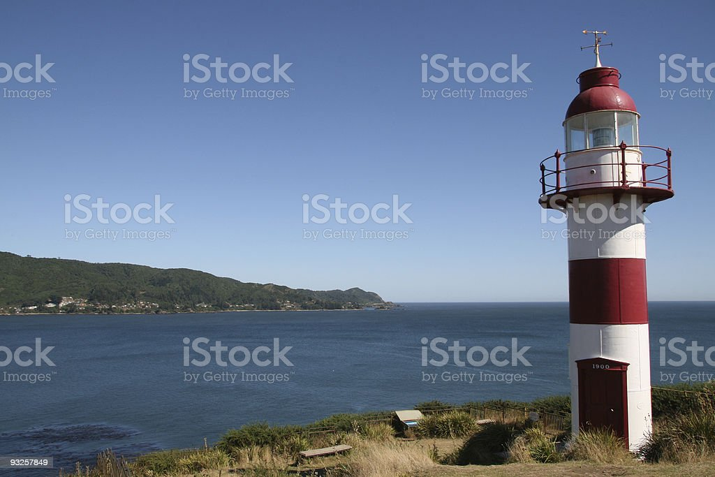 Chilean lighthouse stock photo