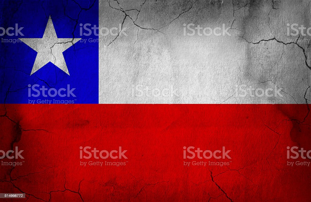 Chilean old flag stock photo