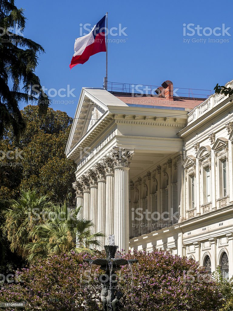 Chilean Parliament building by day. stock photo